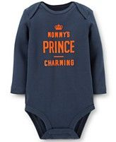 Carter's Baby Boys' Mommy's Prince Charming Navy Bodysuit; Regular $12.00, Was $7.99, Sale $5.99