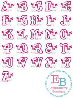 Poodle Applique Alphabet