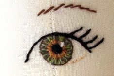 How to embroider draw or paint doll eyes on fabric.  I wish I had known this years ago!