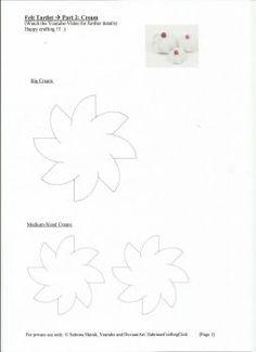 Felt tartlet cream page 1 by SabrinasCraftingClub