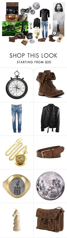 """Sirius Black"" by unislawa-malgorzata-margo ❤ liked on Polyvore featuring Casa Cortes, Dsquared2, BLK DNM, FOSSIL, Seletti, Sirius, Pier 1 Imports, men's fashion and menswear"