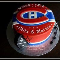 Montreal Canadiens Cake For a Montreal Canadiens fan. Hockey Birthday Cake, Hockey Birthday Parties, Hockey Party, 40th Birthday Cakes, Birthday Ideas, 7th Birthday, Montreal Canadiens, Montreal Hockey, Recipes