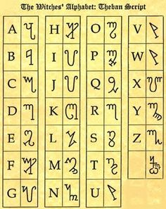 "Runic Witches Alphabet | "", these letters are used to write spells and incantations in a Witch ..."