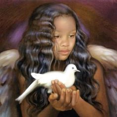 """Nancy A. Noel """"Art heals, informs, transforms and inspires. Nancy Noel, a philanthropist and painter, is also a visionary. African American Art, African Art, Entertaining Angels, I Believe In Angels, Black Angels, Angels Among Us, Black Artwork, Guardian Angels, Angel Art"""