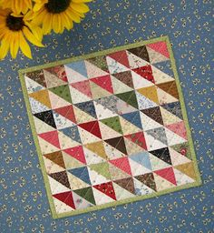 Knot Garden - vintage Cath Kidston style patchwork - earthy, warm colours