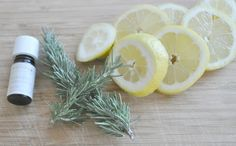1/2 a saucepan with water (the less water the stronger the fragrance) lavender or vanilla oil, rosemary, and lemon slices