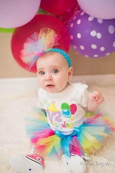 happy 1/2 birthday to this little princess in her colorful tutu as she turned 6 months.