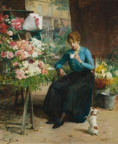 Victor Gilbert - La jolie fleuriste