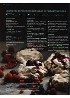 150 receitas Bimby (melhores de 2014) Chocolate, Food C, Pavlova, Recipe Cards, Food Hacks, Macarons, Nom Nom, Food And Drink, Menu