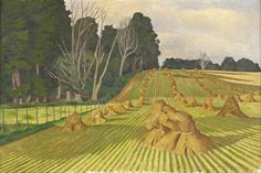 The Cornfield with Stooks by John Nash c. 1918 Oil on Canvas (Private Collection) Abstract Landscape, Landscape Paintings, Uk Landscapes, Nature Paintings, John Nash, Best Artist, Beautiful Paintings, Painting Prints, Original Paintings