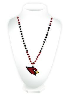 Arizona Cardinals Beads with Medallion Mardi Gras Style Special Order
