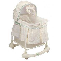 simmons elite gliding bassinet peacock. bassinet incline sleeper baby nursery furniture portable rocking cradle canopy #kolcraft simmons elite gliding peacock