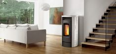 instead of fireplace! Pellet Fireplace, Pellet Stove, Fireplaces, Home Appliances, Wood, Beautiful, Home Decor, Fireplace Set, House Appliances
