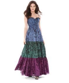 Betsey Johnson Garden Toile tiered dress