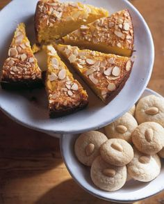 It's astonishing how buttery this cake tastes, given that there is not a gram of butter in it. The flour is replaced with ground almonds - and cooked, cooled, pureed fruit provides moistness and flavour.