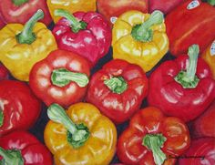 Vegetable Print Vegetable Painting Red Pepper Print Vegetable Wall Art Watercolor Kitchen Wall Art Food Art Kitchen Decor Art Rosenzweig USD) by BarbaraRosenzweig Vegetable Painting, Vegetable Prints, Bright Kitchens, Kitchen Wall Art, Kitchen Decor, Lose 30 Pounds, Stuffed Sweet Peppers, Watercolor Paintings, Watercolors