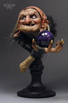 Halloween Art, Halloween Decorations, Grey Alien, Hand Molding, Arte Horror, Dark Art, 1 Piece, Art Dolls, Clay Dolls