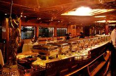 Yummy dinner in a floating dhow cruise. #Dubai #UAE #dinner #dhowcruise #travel #tourism #dine #luxury #night #UAE #MiddleEast #holidays #fun www.iconicdubai.com/