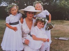 Princess Diana with neices