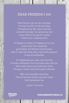 A Place To Collect Non Religious Funeral Poems That Help Us In Our  Grieving. We Create Beautiful PDF Programs For Funeral And Memorial  Services Within 24 ...