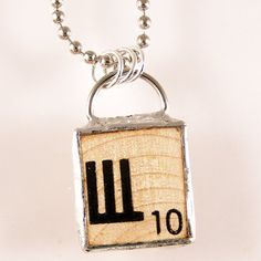 Russian Scrabble Letter Pendant $20