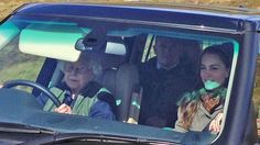 The Queen Driving Kate Middleton Around Her Balmoral Estate This Weekend - September, 2016
