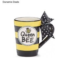 Coffee Cup Mug Gift Funny Unique Cute Ceramic Tea Teacup Travel Office Queen Bee