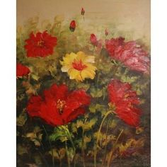 Real Handmade Flower Oil painting