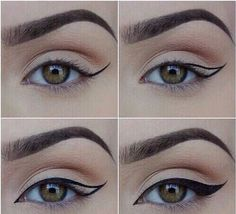 Image via We Heart It #beauty #eyeliner #wingedeyeliner #wings #perfecteyebrows #cute #perfect #make-updiy