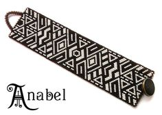 "Браслет ""Двухцветный""  #beadwork peyote bracelet"