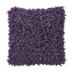 Kissen Scilla - Polyester/Baumwolle - Violett - 45x45 cm