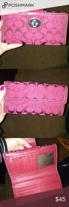 Coach Turnkey Deep Burgundy Wallet Coach wallet, turnkey style, deep burgundy, great condition Coach Bags Wallets