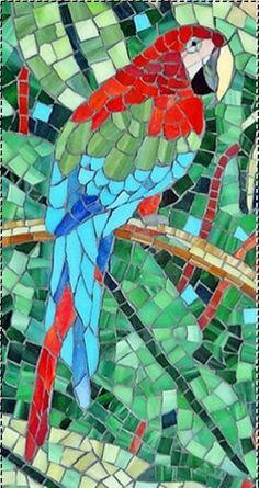 Mosaic parrot