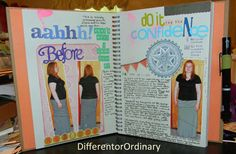 Different or Ordinary: Smash Book Weight Loss Journal