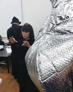 Here is Rei Kawakubo explaining how the process works of turning concepts into a Comme des Garcons collection THE REAL REI: Read my story about the Met Ball. Link in bio.