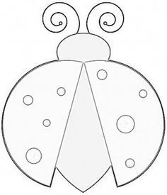 Ladybug Pattern Template | ... lady bug template, ladi bug, quilting patterns ladybug, lady bug