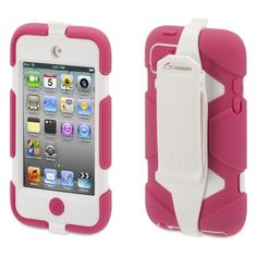 pink and white i pod case