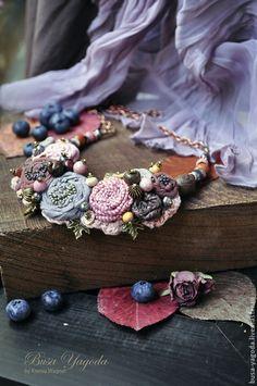 """Колье, бусы ручной работы. Ярмарка Мастеров - ручная работа. Купить Колье ручной работы """"В саду из роз"""". Handmade."""