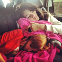 Bella and Zendaya - Nap time