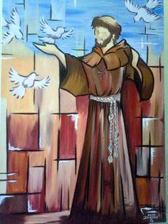 Pintura São Francisco De Assis - R$ 990,00