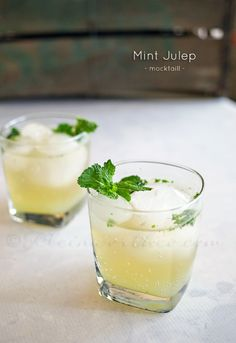 Mint Julep Mocktail on Mocktail Monday. For all those expecting or that just want a non-alcoholic version of some of the most popular drinks - this site has a whole series dedicated to mocktails. on kleinworthco.com