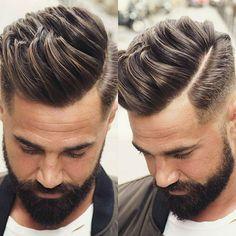 Trendy Men's Haircuts Picture Description Men's Hairstyle - #Haircuts https://glamfashion.net/mens/haircuts/mens-haircuts-mens-hairstyle-3/