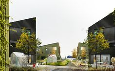 karres+brands & Ghilardi+Helsten (2015): Town development project, Fosnavåg (NO), via competitionline.com Pedestrian Bridge, Fishing Villages, New City, New Construction, Landscape Architecture, Norway, Multi Story Building, Urban, Projects