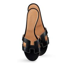Oasis Women's calfskin sandals, with leather sole and 5 cm stacked heel