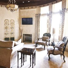 Animal Print Living Room Design Ideas, Pictures, Remodel, and Decor