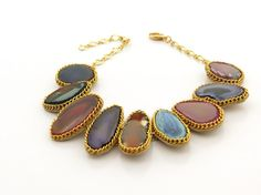 Statement Choker Colorful Necklace Gemstone by ChandraJewelry