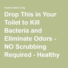 Drop This in Your Toilet to Kill Bacteria and Eliminate Odors - NO Scrubbing Required - Healthy Holistic Living