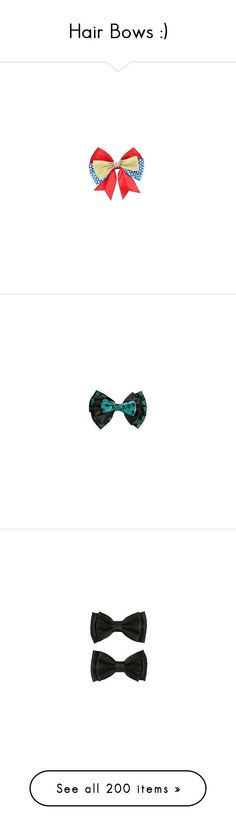 """""""Hair Bows :)"""" by allie-19 ❤ liked on Polyvore featuring accessories, hair accessories, hair bow accessories, hair clip accessories, barrette hair clips, bow hair clip, black hair accessories, black hair bow, blue hair bow and blue hair accessories"""