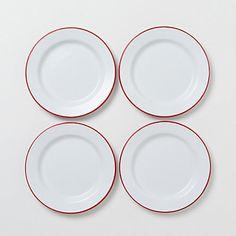 Enamelware Plate Set