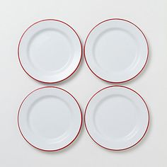 Clean lines, retro look - what's not to  like? (Terrain Enamelware Plate Set #shopterrain)